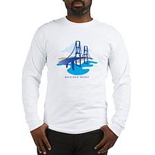 Mackinaw Bridge Long Sleeve T-Shirt