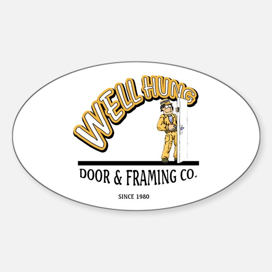 Well Hung Sticker (Oval)