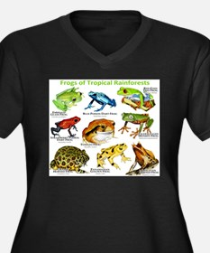Frogs of the Tropical Rainforests Women's Plus Siz