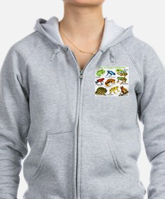 Frogs of the Tropical Rainforests Zip Hoodie