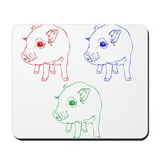Technicolor Mini Pigs Mousepad