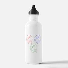 Technicolor Mini Pigs Water Bottle