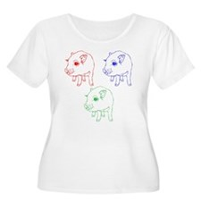 Technicolor Mini Pigs T-Shirt
