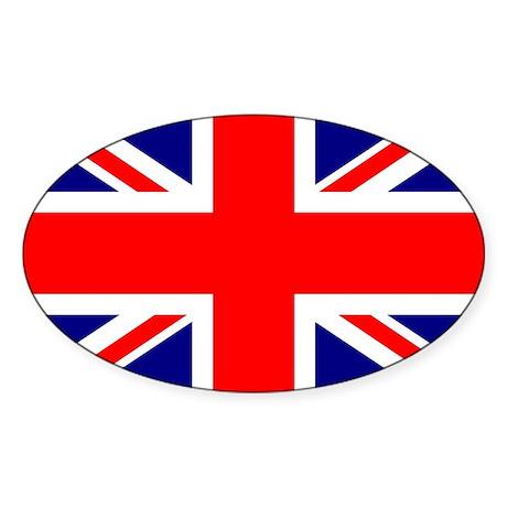 British Flag or Union Jack Sticker (Ovl)