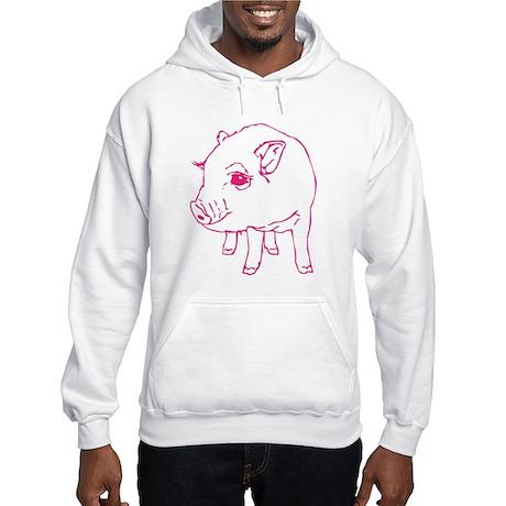 Pink Mini Pig Hooded Sweatshirt
