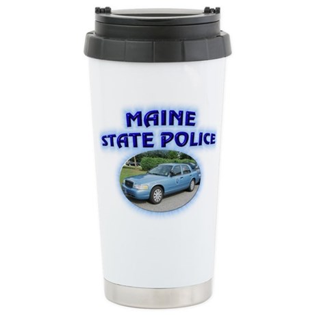 Maine State Police Stainless Steel Travel Mug