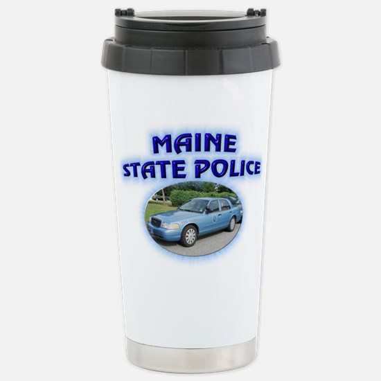 Maine State Police Stainless Steel Travel Mug