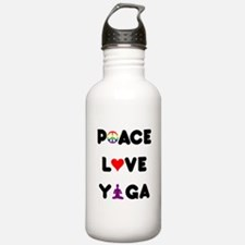 Peace Love Yoga Water Bottle
