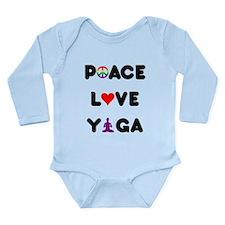 Peace Love Yoga Long Sleeve Infant Bodysuit