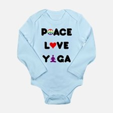 Peace Love Yoga Long Sleeve Infant Bodysuit