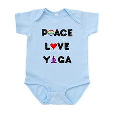 Peace Love Yoga Infant Bodysuit