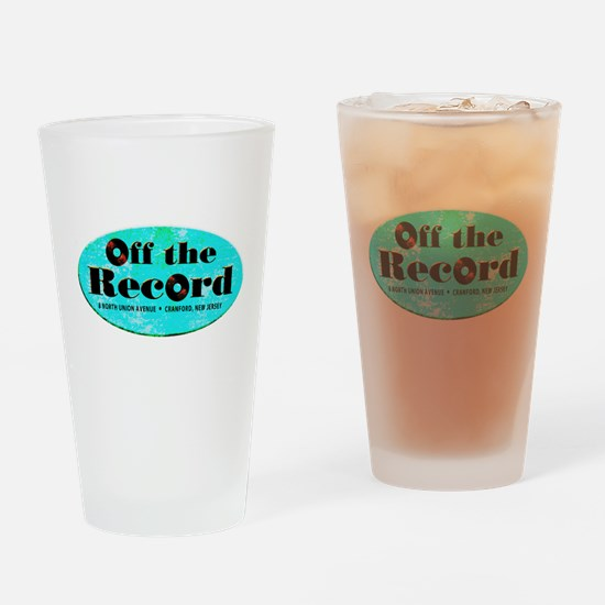 Off the Record Drinking Glass