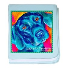 Black Lab Art baby blanket