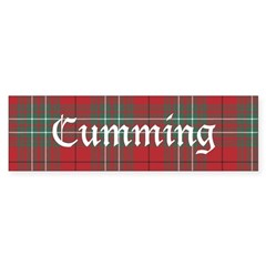 Tartan - Cumming Bumper Sticker