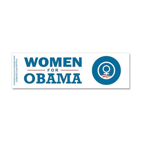 Women for Obama Car Magnet 10 x 3