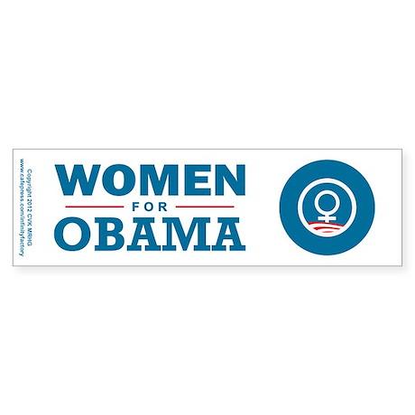 Women for Obama Sticker (Bumper)