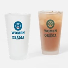 Women for Obama Drinking Glass