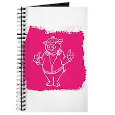 Cool Cartoon Pig Journal