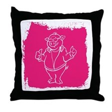 Cool Cartoon Pig Throw Pillow