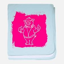 Cool Cartoon Pig baby blanket