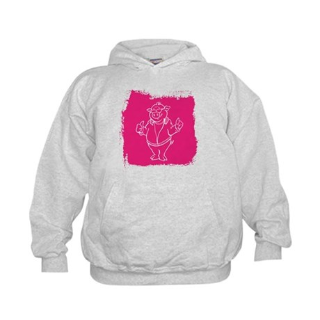 Cool Cartoon Pig Kids Hoodie