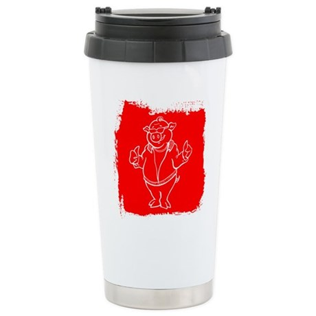 Cool Cartoon Pig Stainless Steel Travel Mug