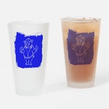 Cool Cartoon Pig Drinking Glass