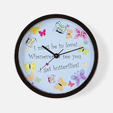Cute Artistic butterflies Wall Clock