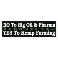 Yes Hemp Farming - Bumper Car Car Sticker