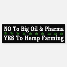 Yes Hemp Farming - Bumper Car Car Sticker