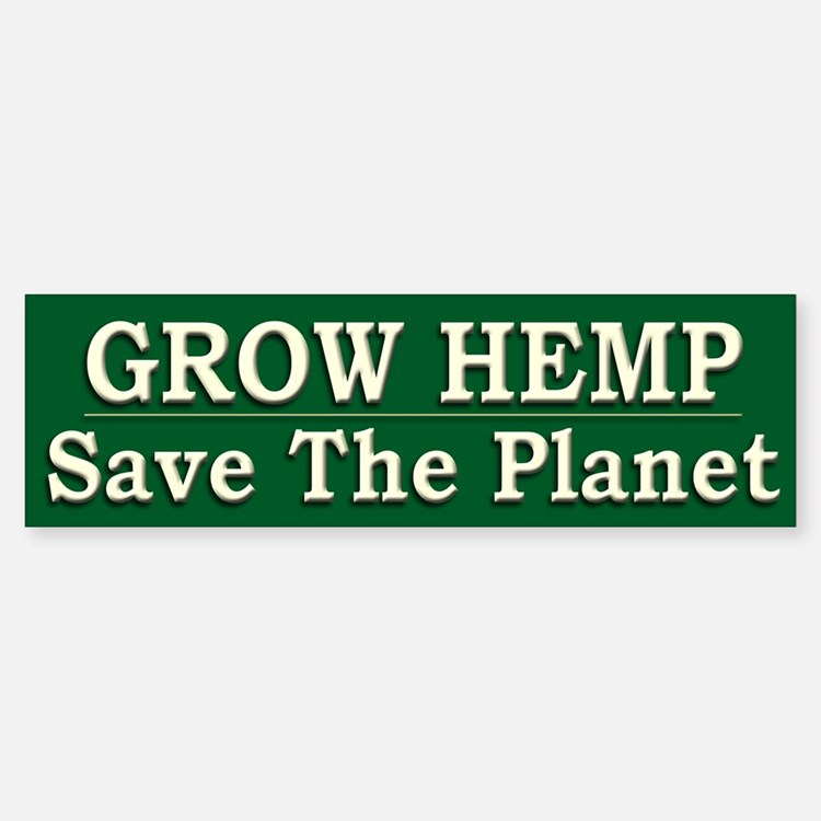 Legalize Hemp Farming Green - Bumper Bumper Sticker