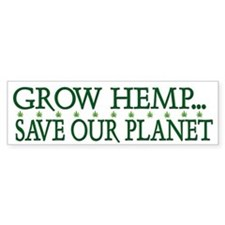 Grow Hemp Legalize Cannabis Bumper Bumper Sticker