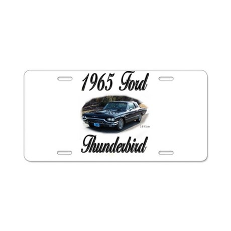 1965 Black Ford Thunderbird Aluminum License Plate by