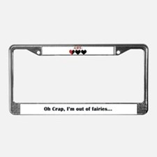 Out of Fairies License Plate Frame