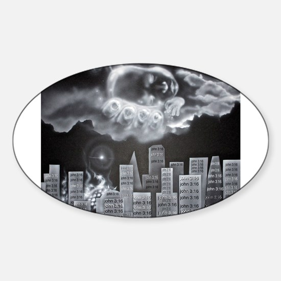 For God so Loved the World Sticker (Oval)