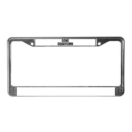 Gone Squatchin License Plate Frame
