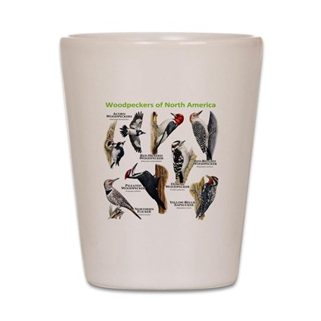 Woodpeckers of North America Shot Glass