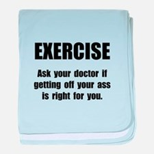 Exercise Doctor baby blanket