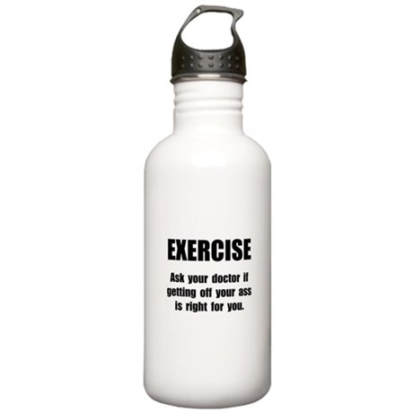 Exercise Doctor Stainless Water Bottle 1.0L