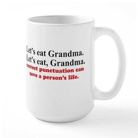Let's eat grandma Large Mug