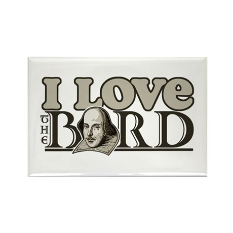 I Love The Bard Rectangle Magnet (100 pack)