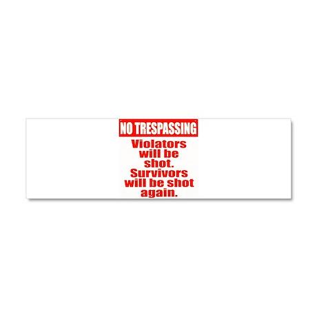 Warning Tresspassing Car Magnet 10 x 3