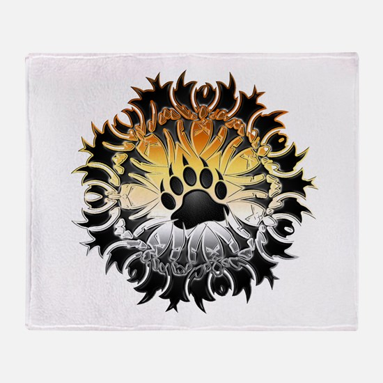 Tribal Bear Pride Paw Throw Blanket