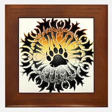 Tribal Bear Pride Paw Framed Tile