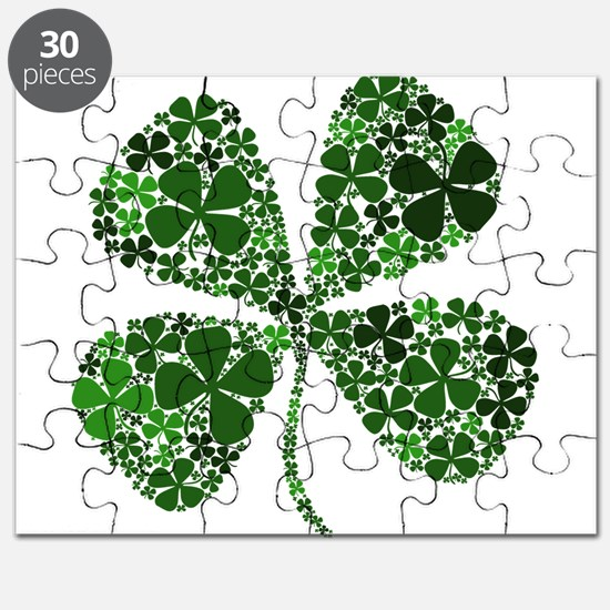 Lucky 4 Leaf Clover Irish Puzzle