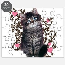 Cute Blue-eyed Tabby Cat Puzzle