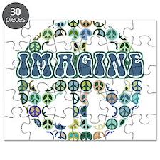 Cool 70s Retro Peace Puzzle