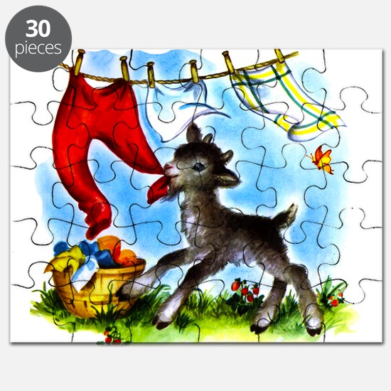 Funny Clothesline Goat Puzzle