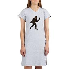 Bigfoot Yeti Sasquatch Peace Women's Nightshirt