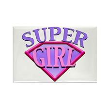 Super Girl (Pink) Rectangle Magnet
